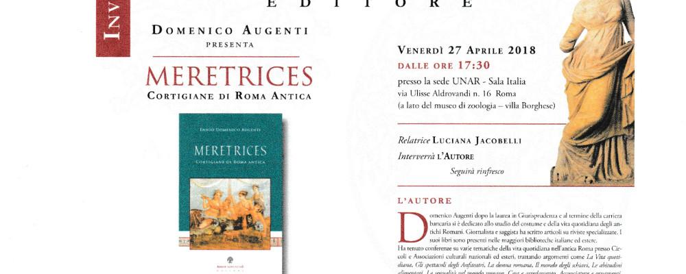 """27 Aprile h 11.00 : PRESENTAZIONE DEL LIBRO """"MERETRICES"""""""